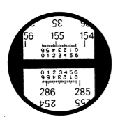 Поле зрения шкалового микроскопа теодолита Т20